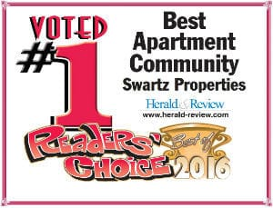#1 Reader's Choice 2015 - Swartz Properties, Decatur, IL